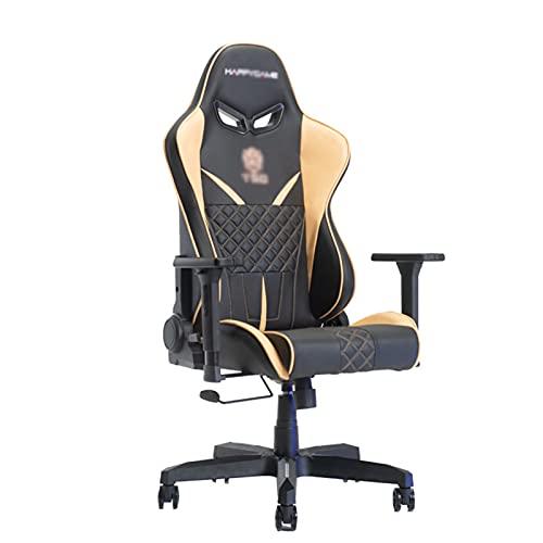 Silla de juegos, E-Sports de respaldo alto, silla de escritorio de piel sintética, silla de trabajo giratoria ajustable ergonómica