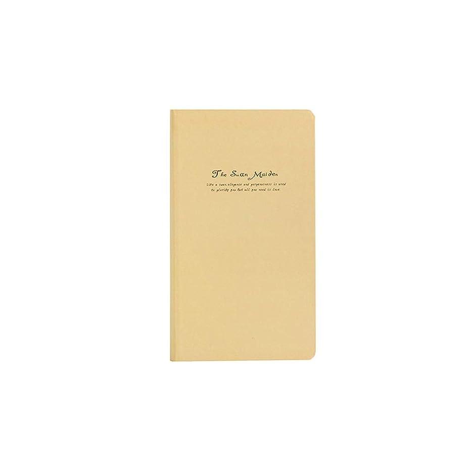 ノート 純粋な色の小さな新鮮な硬い表面のノートブックコピーノートブックハンドブックこの日記創造的な学生ビジネスのこのページのカラーページ メモ帳 ノート (Color : Yellow)