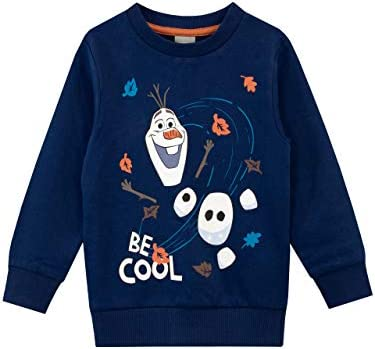 Disney Boys Frozen Sweatshirt Olaf Blue Size 6 product image