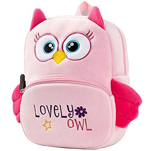 Nette Kleine Kleinkind Kinder Rucksack Plüsch Tier Cartoon Mini Kinder Tasche für Baby Mädchen Junge Alter 1-3 Jahre - Eule