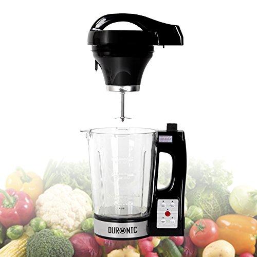 Duronic BL78 elektrischer Standmixer/Suppenbereiter / Babynahrungszubereiter/Thermalmixer und Kochmixer mit 1,2L Glasbehälter – Suppe auf Knopfdruck kreiert - 2