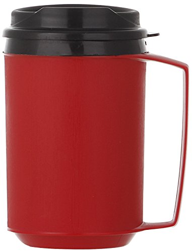 ThermoServ Foam Insulated Mug, 12-Ounce, Red