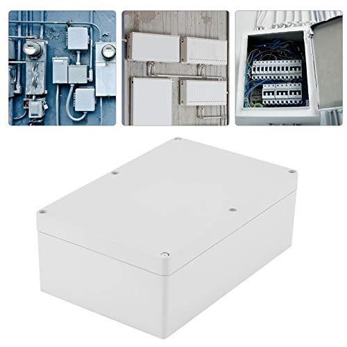 Gabinete de gabinete, caja de conexiones azul, 230 * 150 * 85 mm Caja de proyecto de carcasa de plástico blanco a prueba de agua Caja de conexiones de bricolaje para interiores y exteriores eléctricos