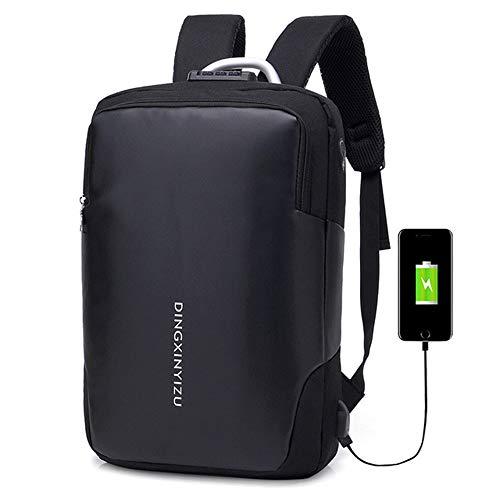 COOLisland Waterdichte Rugzak met grote capaciteit Moderne rugzak Zakenzakken voor mannen met USB Opladen Poort voor School Reizen Werkpakket Past