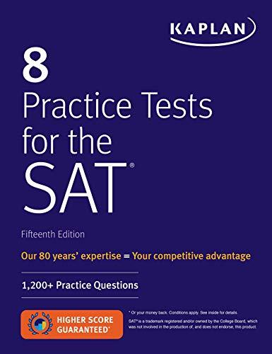 8 Practice Tests For The Sat: 1, 200+ Sat Practice Questions (Kaplan Test...
