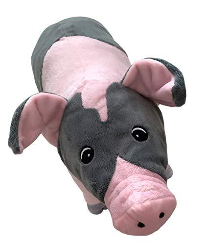 POTTPAULI dein kuscheliger Begleiter I Plüsch-Schwein I Premium Plüschtier I Stofftier I Glücksbringer I Kinder I Liebe I Geschenk I Kuscheltier I 35 cm lang in rosa grau (Plüsch)