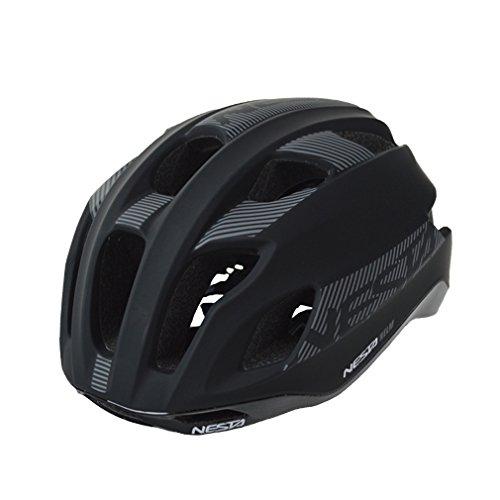 Nesta Helm Casco de Ciclismo, Unisex Adulto, Negro Mate, S/M