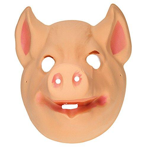 Widmann Plastic Mask Child - Pig