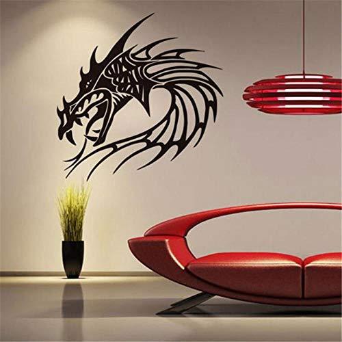 Dragón chino vinilo pared pegatina grifo pared pegatina decoración del hogar arte Mural calcomanía 59x62 cm