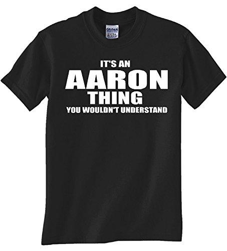 Gildan Aaron Thing Black T Shirt (2XL)