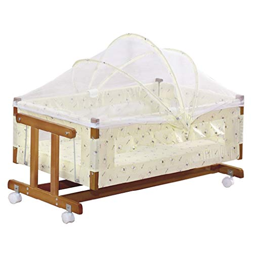Affordable Balance Bouncer Cradle Baby Crib Compact Travel Cot Children Rocking Cradle Bed Wood Game...