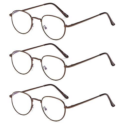 Suertree Anti Blue Lesebrille 3 Pack Computer Brille Herren Damen Anti Rays Lesebrillen für Frauen Männer Fashion Leser 2.5X BM281