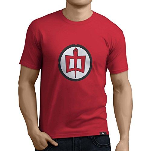 Tuning Camisetas - Camiseta Divertida para Hombre - Modelo Granheroeamericano, Color Rojo- Talla M (0003-Rojo-Gran-heroe-americano-M)