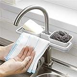Vssictor Zweischichtiges Abflusslagerregal für Spüle Regal,Zuhause Rack ablassen Wasserhahn...