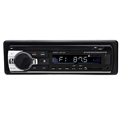 banapoy Tarjeta de Memoria para automóvil Reproductor de Radio MP3, Memoria de Apagado HiFi Reproductor de Radio MP3 para automóvil, Soporte para Tarjeta de Memoria/Disco U Inicio para