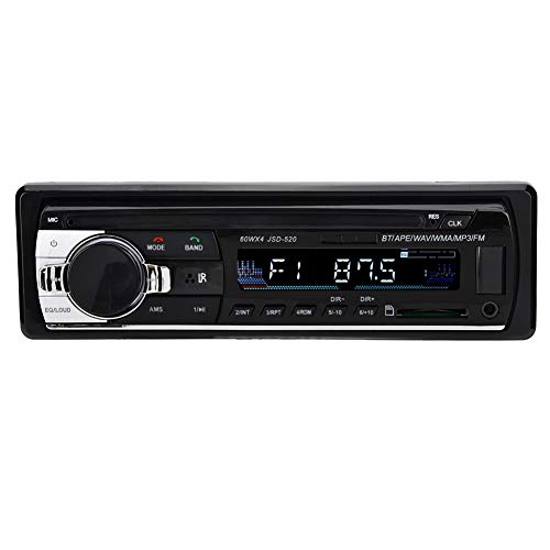 Auto MP3-speler, DC 12V HiFi verliesvrije muziek enkele spindel auto SD-kaart Bluetooth 4.0 MP3 radio FM autospeler met AUX audio-ingang stroomcirkelbescherming test