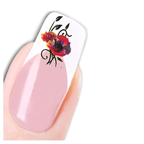 Just Fox – Tattoo Stickers pour ongles Butterfly Papillon ongles autocollants nail art Flower