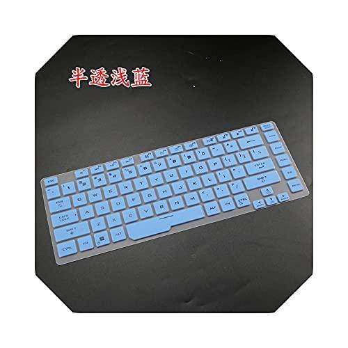 Funda protectora de silicona para ordenador portátil ASUS ROG Zephyrus M GU502 GU502GU GU502GV GU502G es031t de 15,6 pulgadas, color azul