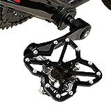 Man-Bicycle Accessories Adaptateur de Plateforme de vélo de Route sans pédales Universel pour VTT, Taille: Petit, 1pcs Outil d'assemblage de pièces de vélo (Couleur : Noir)