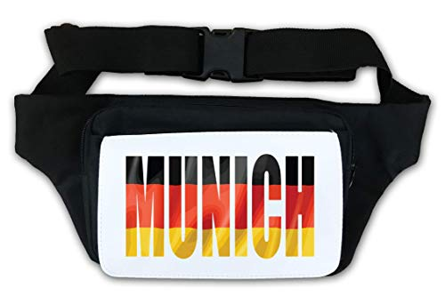 Munich Germany Flag Vector Graphic Waist Bag