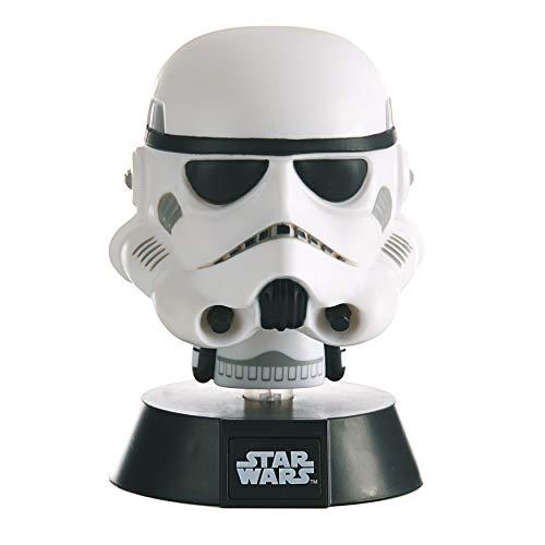 Paladone Star Wars Stormtrooper 3D Icon BDP | Sous licence officielle | Cadeau idéal pour les fans de Disney | Veilleuse lumineuse 10 cm de haut | Alimenté par 2 piles AAA Blanc