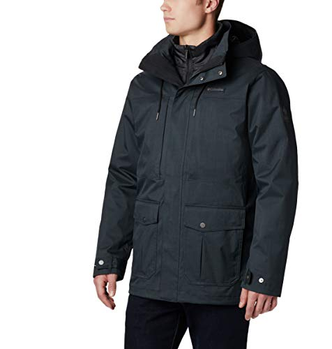 Columbia Horizons Pine Interchange Jacket Chaqueta Impermeable, Poliéster, Hombre, Negro, Talla M