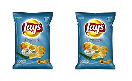 LAY'S Patatas fritas (sabor a crema agria), 70 g, paquete de 2