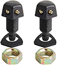 BANG4BUCK 2Pcs 10mm Car Front Windshield Wiper Washer Sprayer Nozzle Replacement For Chevy GMC Cmary Toyota Corolla