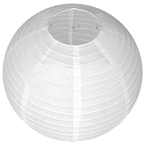 Luwu-Store 30cm Chinese Paper Lantern Home Wedding Decoration Decor Colorful Party Festival Round White&3cm
