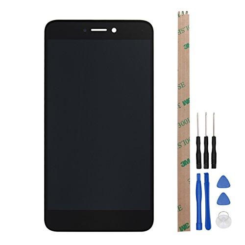 Ocolor di riparazione e sostituzione per Huawei P8 Lite 2017,LCD Display + Touch Screen Digitizer con Utensili Inclusi (Nero)