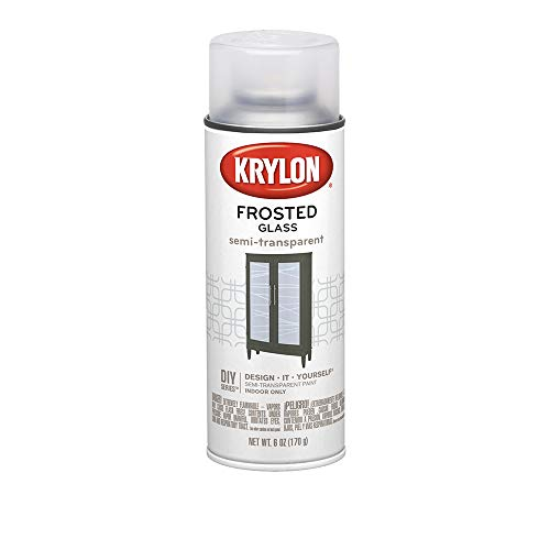 Krylon K09040 Frosted Glass Finish Glass Paints Aerosol, White Finish, 6 Ounce