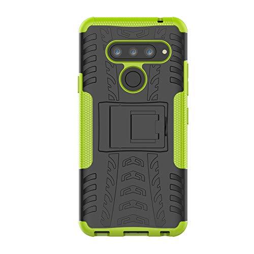 Candy House LG V40 móvil, LG V40 ThinQ funda rígida suave 2 en 1 híbrida armadura estilo Case con soporte antigolpes Back Cover Carcasa Carcasa Cover para LG V40 ThinQ (verde)