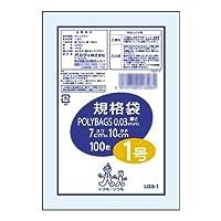 生活 雑貨 家事用品関連 ポリバッグ 規格袋1号 透明100P×160冊