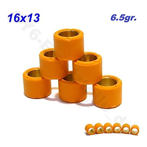 Preisvergleich Produktbild VARIOMATIK ROLLEN GEWICHTE SET 13x16 in 6.5gr * 50-90ccm * 4-TAKT RACING * 4TAKT CHINA ROLLER GY6 .50-80cc 139QMA 139QMB