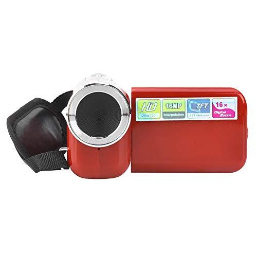 JULYKAI Durevole TFT LCD di Piccole Dimensioni Sceen 16X HD Fotografia DV Videocamera, videocamera Digitale, per Ciclismo da Corsa(Red)