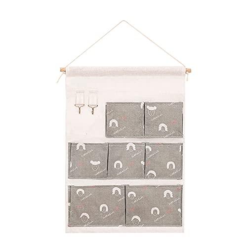 Door Hanging Storage Bag Multi-Layer Bag Pocket Organizer Storage Basket Multi-Function Storage Bag Hooks Home Storage Tools M
