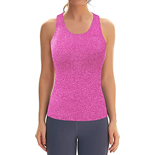 Qigxihkh Damen Racerbacks Workout Yoga Tank Tops Ärmellose Damen Activewear Tops