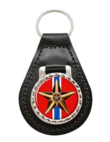 Bronce Star Medalla Cuero Llave Escudo