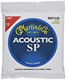 Martin MSP3100 SP 80/20 Bronze Acoustic Guitar Strings, Light