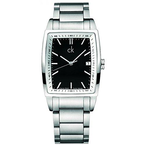 Calvin Klein K3031175 - Reloj analógico de Cuarzo para Hombre con Correa de Acero Inoxidable, Color Plateado