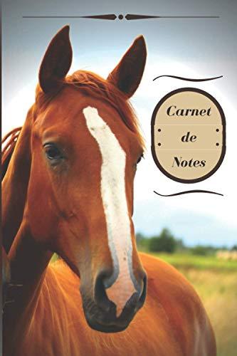 Carnet de Notes: Carnet de Notes chevaux, intérieur ligné à écrire, petit format 15 x 22 cm, (6 x 9 pouces). Broché 122 pages.