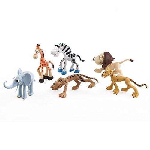 PIXNOR Figurine Animal Sauvage Modèle Jouet - 6 pièces