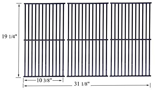 Votenli P591SC (3-Pack) Porcelain Steel Wire Cooking Grid Replacement for Select Gas Grill Models by Brinkmann, Charmglow, Costco, Jenn Air, Members, Nexgrill, Perfect Flame, SAMS Club and Others