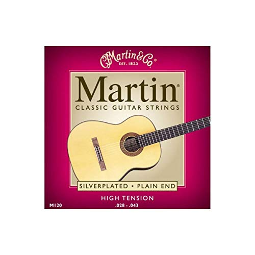 Martin M120 Classical Acoustic Guitar Strings Silverplated