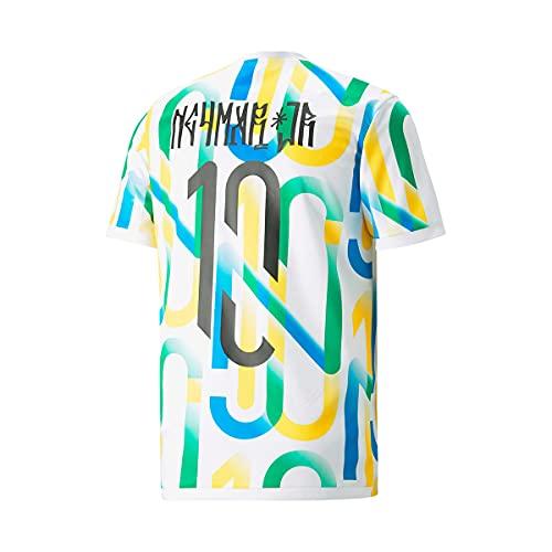 PUMA Neymar Jr Copa Graphic Brazil Collection, Camiseta, White, Talla M
