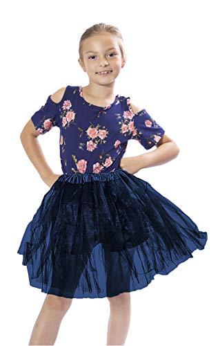 bellasous Classic elástico adulto tutú falda. Gran princesa tutú, adultos baile falda tul. -  Azul -