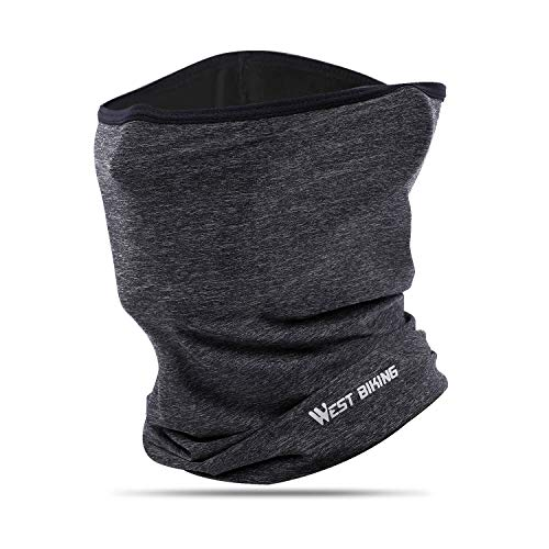 Ice Silk Breathable Balaclava, Versatile Face Mask Neck Gaiter, Riding Running Headwear for UV Wind Dust Dark-Gray