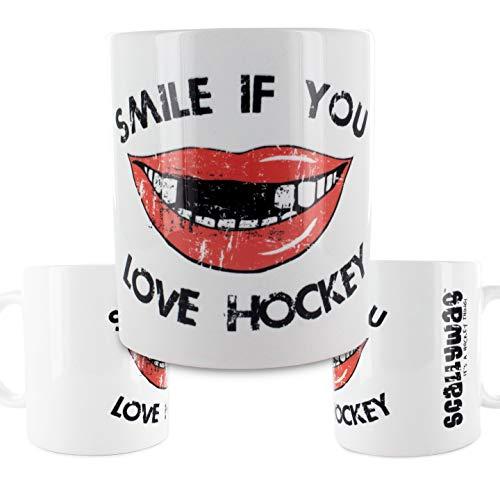 Scallywag® Eishockey Tasse Hockey Smile I A BRAYCE® Collaboration (Kaffeetasse als Hockey Geschenk)