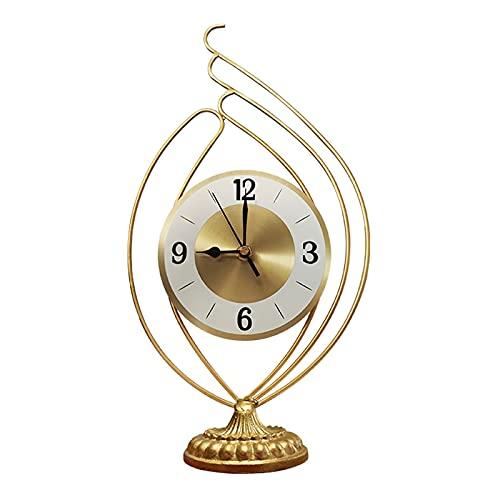 DONGTAISHANGCHENG Reloj de Escritorio Reloj Reloj nórdico Sala de Estar Reloj Reloj Moderno Minimalista Reloj Ornamentos Dormitorio luz de Lujo decoración de Reloj Reloj de Mesa (Size : A)