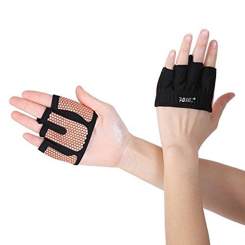 Qlan Bodybuilding and Exercise - Hommes & Femmes, Microfibre légère à demi-doigt et Gants Anti-Slip Grip de gel de silice pour entraînement, entraînement, gants de fitness